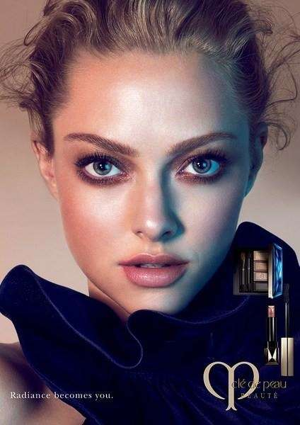 Ethereal Celeb Beauty Ads - The Cle de Peau Beaute Campaign Stars Actress Amanda Seyfried