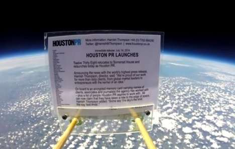 Sky-High Press Releases - Houston PR Makes Mundane Announcement with an Extraordinary Campaign
