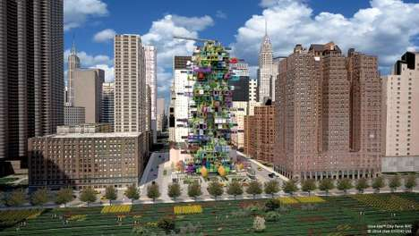 Vertical Urban Farms - This City Farm Design Concept Aims to Localize Food Production
