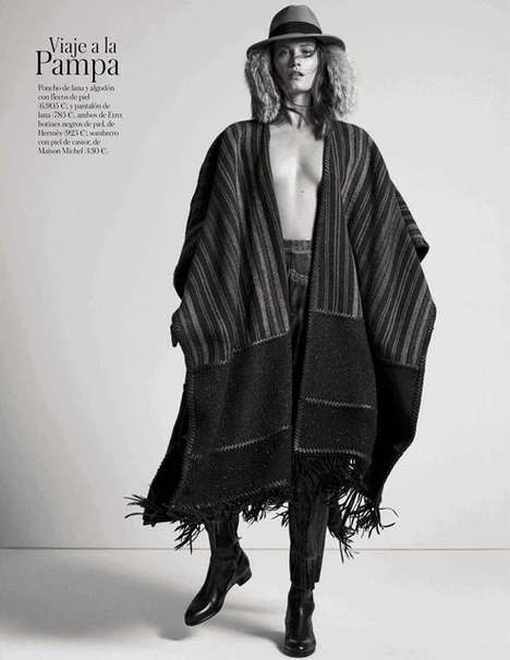 Nomadic Fall Fashion Editorials - The Vogue Spain Ready to Wear Photoshoot Showcases Outerwear