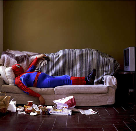 Aging Superhero Photography - These Images Capture Famous Superheroes in Their Old Age
