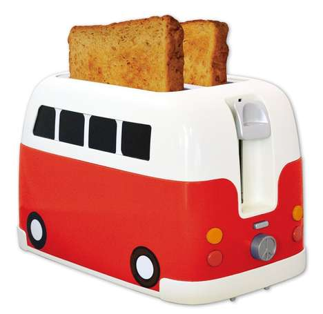 Retro Bus Appliances - This Camper Van Toaster Appliance Resembles an Old School Volkswagen Bus