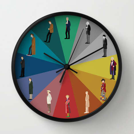 Sci-Fi Character Clocks - This Doctor Who Wall Clock Celebrates All Past Incarnations of the Doctor