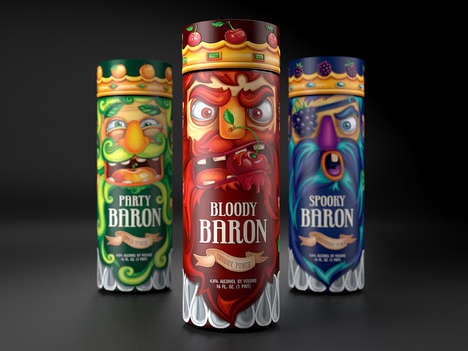 Kingly Booze Bottles - This Party Alcohol Packaging Concept Has Royalty Lose Their Crown Caps