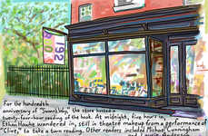 Charming Bookstore Illustrations - Bob Eckstein Sketches Some of His Favorite New York Bookstores