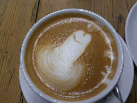 Phallic Latte Froth - This Coffee Art is Not For the Faint of Heart