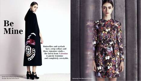 Darkly Feminine Fashion - The Latest Valentino Pre-Fall Lookbook for Barneys Stars Marine Deleeuw