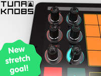 Touchscreen Music Knobs - The Tuna Knobs Lets You Turn Any Tablet into a DJ Turntable