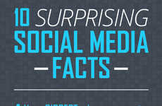 Surprising Social Stats - This Mainstreethost Infographic Illustrates 10 Social Media Facts