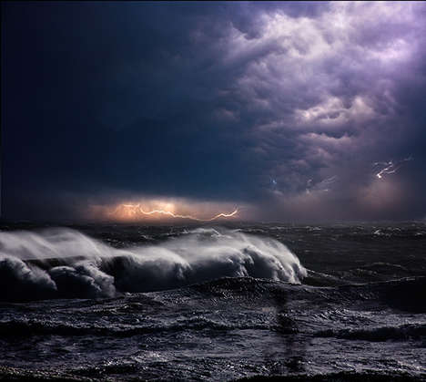 Sea Storm Snapshots - Dalton Portella Captures Ocean Waves as They Crash and Create