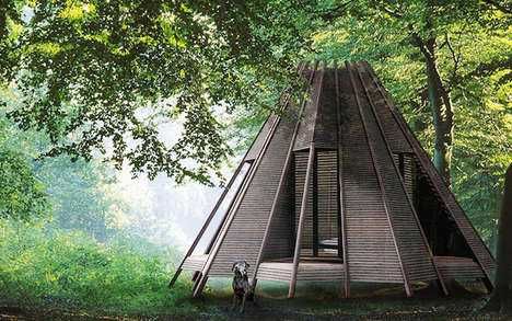 Tranquil Teepee Towers - Antony Gibbon Created The Nook for a Tranquil Work Space