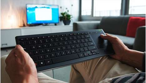 Couch Potato Keyboards - The Logitech Living-Room Computer Keyboard is Made for Relaxing