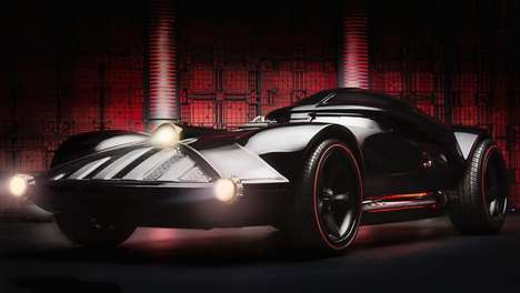 Villainous Sci-Fi Automobiles - Arrive in Style with the Darth Vader Car