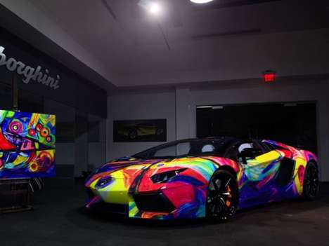 Fine Art Supercars - The Duaiv Lamborghini Art Car is Ready for the Gallery and Track