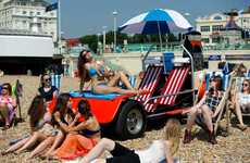 Automotive Beach Chairs - Holiday Autos' Ultimate Deck Chair Takes the Shape of a Car