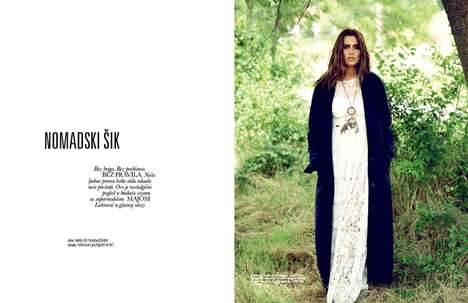 Nomadic Chic Editorials - The Latest ELLE Serbia Cover Shoot Stars Model Maja Latinovic