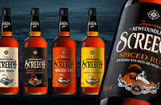 Nautical Rum Bottles - SCREECH's Spiced Rum Bottles Help the Drink Voyage into New Territory