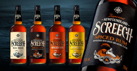 Nautical Rum Bottles - SCREECH