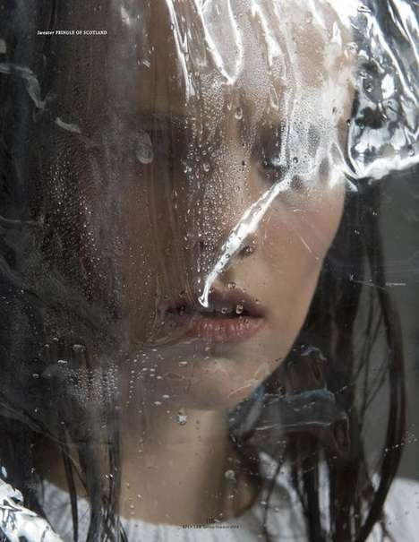 Posh Plastic Wrap Photoshoots - The Open Lab Amanda Camenisch Editorial is Pliant