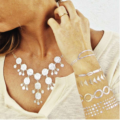 Metallic Tattoos - Flash Tattoos are Essentially Temporary Stick-On Jewelry