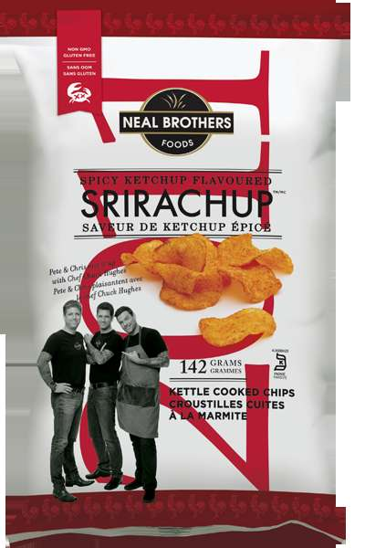 Piquante Ketchup Chips - The Srirachup Kettle Chips by the Neal Brothers Pack a Spicy Punch