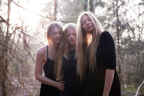 Affectionate Sibling Series - This Sister Photography Project Takes Place in a German Forest