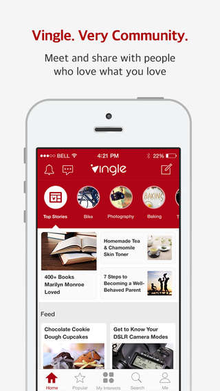 Community Platform Apps - Vingle is a Crossbreed App Between Pinterest and Reddit