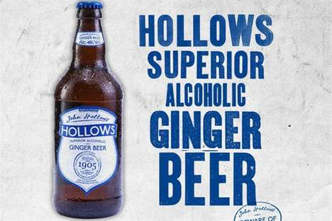 Spiked Ginger Beers - The Hollows All Natural Alcoholic Ginger Beer is a Healthier Alternative