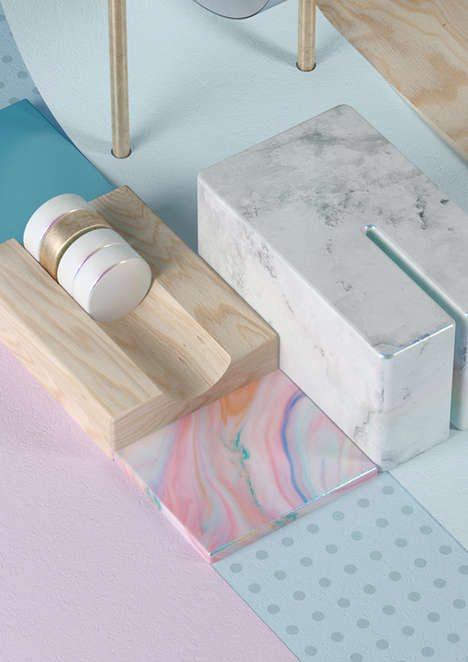 Surreal Pastel 3D Art - The SOMA for Catalogue by Six & Five Studio is Full of Texture and Color