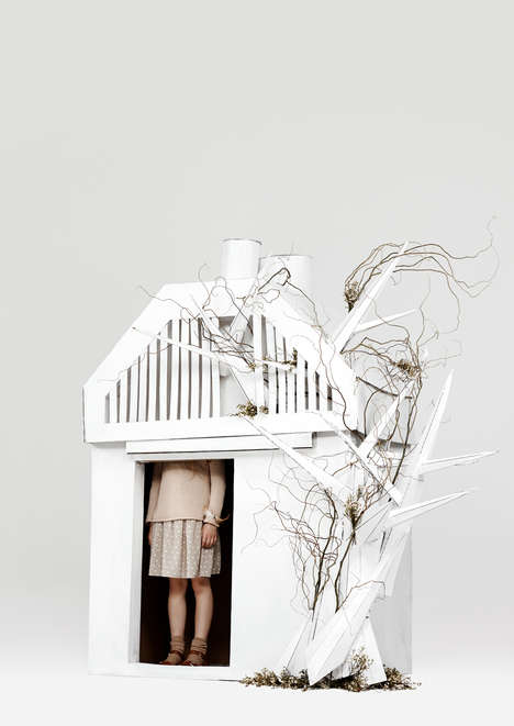 Whimsical Cardboard Forts - Kinfolk Magazine Had Kids Dream Up the Ultimate Cardboard Playhouse