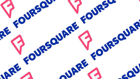 Superhero-Inspired Social Media Rebranding - The New Foursquare Logo is Bold, Bright and Modern