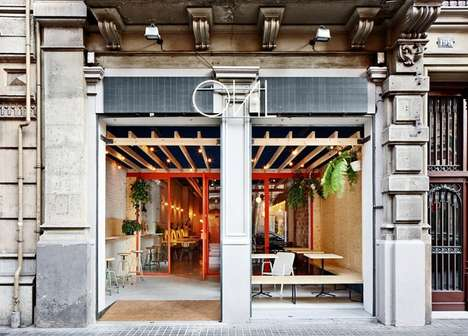 DIY Burger Eateries - Flexoarquitectura's Restaurant Oval Embodies Industrial Elegance