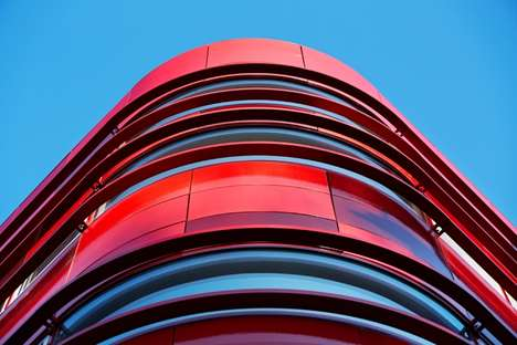 Artery Inspired Architecture - The Regional Blood Centre by FAAB Architektura is Crimson-Colored