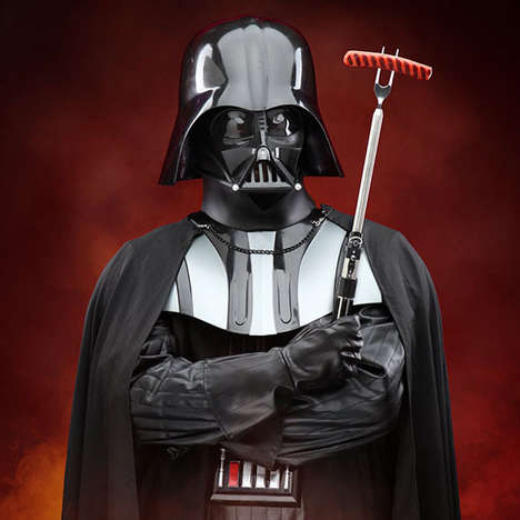 Galactic Barbecue Utensils - These Darth Vader Lightsaber Barbecue Forks Make Grilling Fun