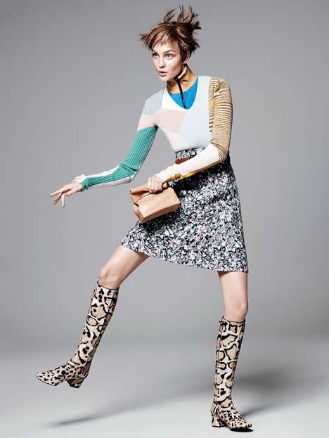Kooky Leopard Editorials - David Sims Captured Caroline Trentini For Vogue