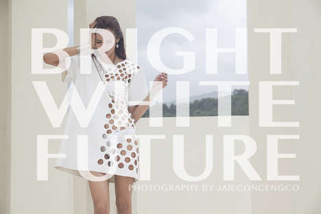 All-White Fashion Photoshoots - Bright White Future by Jar Concengco Stars Shermaine