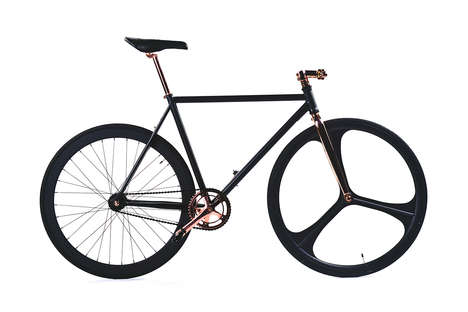 Monochromatic Metal Bicycles - These Luxurious SikSilk Bike Designs are a Limited Edition Product
