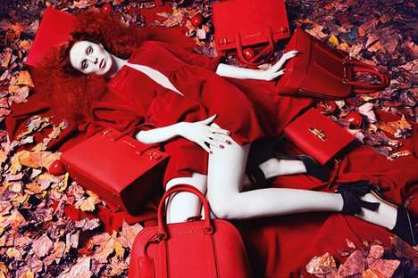 Fairy Tale Fashion Ads - The Latest Kurt Geiger Fall Campaign Stars Model Karen Elson
