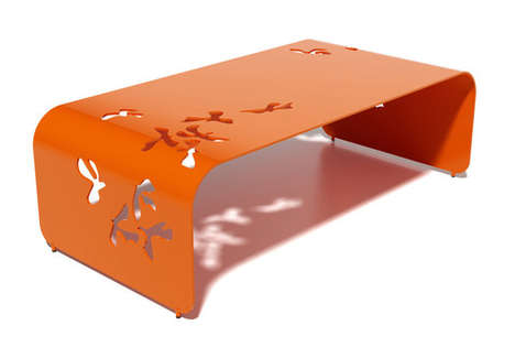 Avian-Themed Table Decor - The Flight Low Table by Margo Chase is Inspired by Winged Creatures