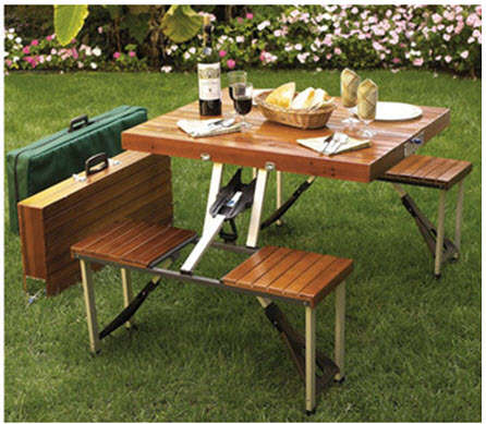 72 Backyard Furniture Pieces - From Potted Furniture Pieces to Grassy Picnic Tables