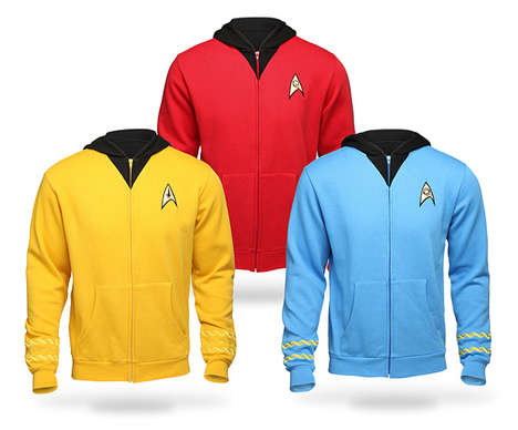 Galactic Commander Hoodies - These Stark Trek TOS Zip-Up Sweat Shirts are Super Cozy
