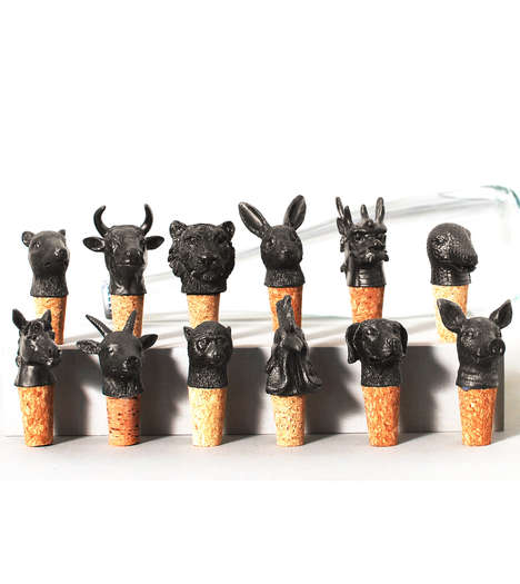 Astrological Drink Decor - These Animal Zodiac Wine Stopper Celebrate Chinese Traditions