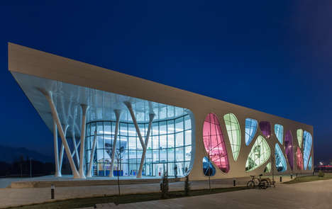 Ice-Resembling Buildings - The Kayseri Ice Ring Building in Turkey Mirrors its Contents