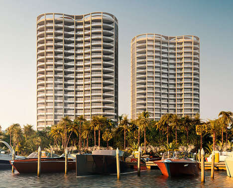 Pinched Mid-Section Condos - OMA Presents its Designs for Park Grove in Miami