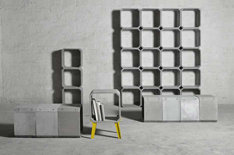 Framed Cement Furniture - Bentu Design Create the Zhi and Kou Pieces