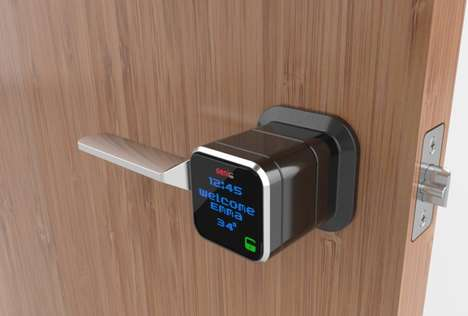 Internet-Connected Door Handles - The Genie Smart Lock Connects Your Door Handle to the Internet