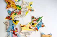 Comic Book Nursery Decor - Etsy's Hoopsy Daisies' Shop Creates a Storyboard-Constructed Star Garland