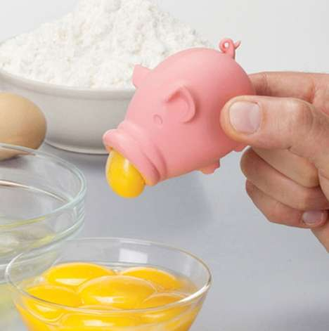Piggy Egg Separators - This Yolk Separator From Animi Causa Makes Isolating Ingredients Cuter
