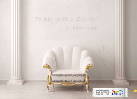Political Cover-Up Ads - Dulux' Ad Shows What You Can Cover Up with Paint