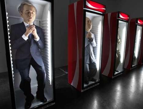 Cooler-Stuffed Sculptures - Eugenio Merino Sculpted Infamous Politicians in Coca-Cola Coolers